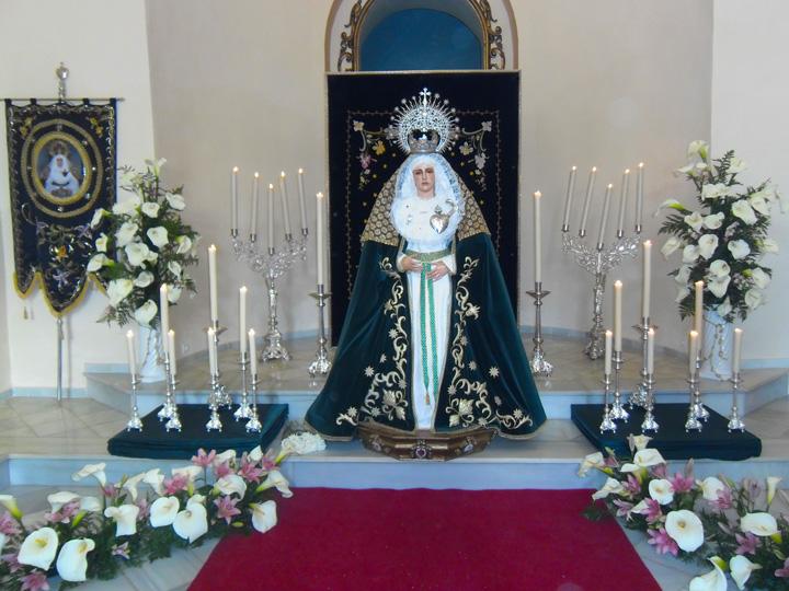 Besamanos de la Virgen de los Dolore en El Cerro de Andévalo